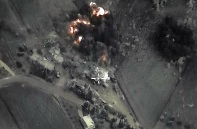 Точечные удары российской авиации по объектам террористической организации ИГ
