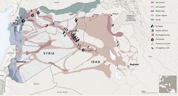 Карта нефтяного бизнеса ИГ