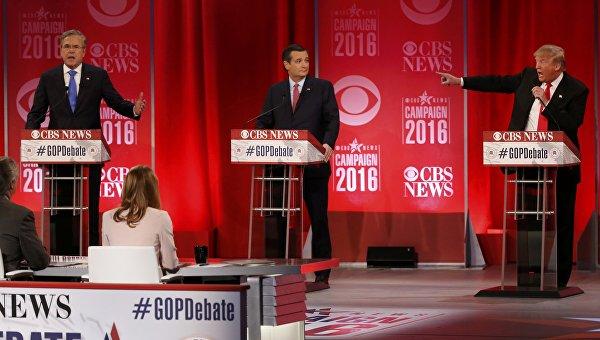 Дональд Трамп и Джеб Буш на дебатах поспорили из-за России