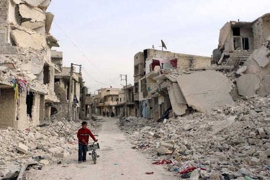 Примерный вид Алеппо сегодня