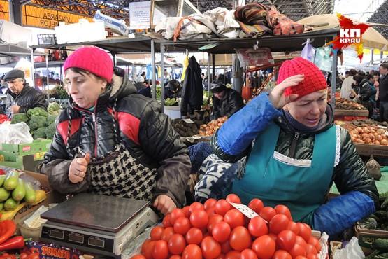 На Центральном рынке Кишинева.