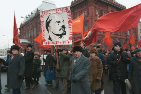 Митинг против развала Союза. Москва, 1991 г.