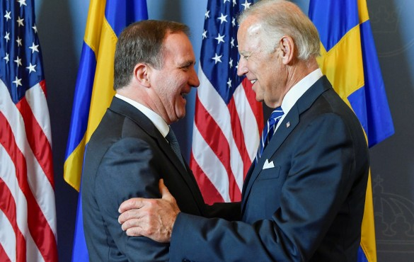 Премьер-министр Швеции Стефан Левен и вице-президент США Джо Байден