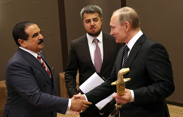 Хамад бен Иса Аль Халифа и Владимир Путин
