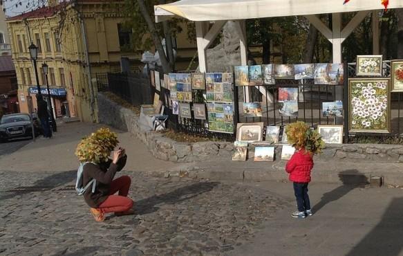 Бабье лето в Киеве продержалось дольше, чем на Урале