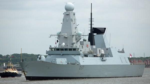 HMS DUNCAN IN LONDON