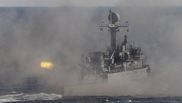 Южная Корея провела крупные морские огневые учения