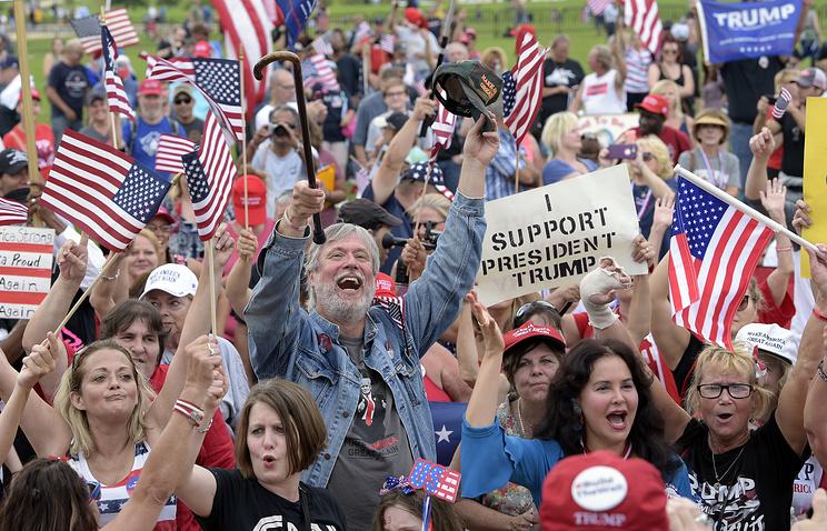 Сторонники Трампа провели митинг в центре Вашингтона