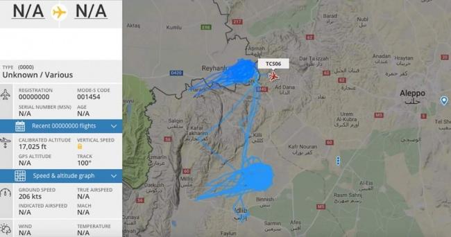 Полеты военной авиации Турции совпадают с расположением основных сил сирийской «Аль-Каиды»