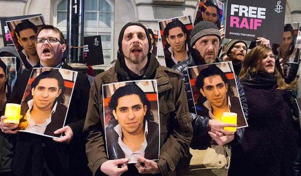 Жестокий приговор Раифу Бадави вызвал волну акций протеста по всему миру