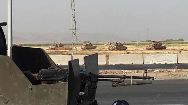 Танки у сирийской границы — провинции Идлиб