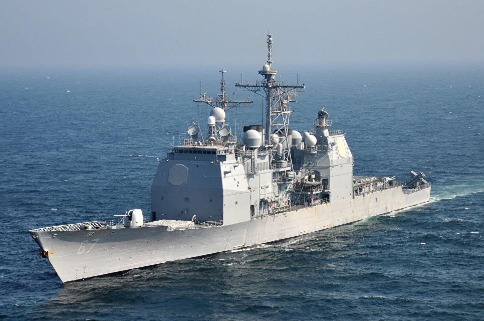 Ракетный крейсер Shiloh ВМС США