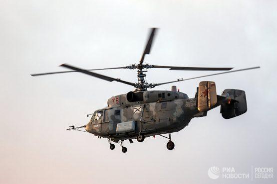 Вертолет Ка-29 во время учений