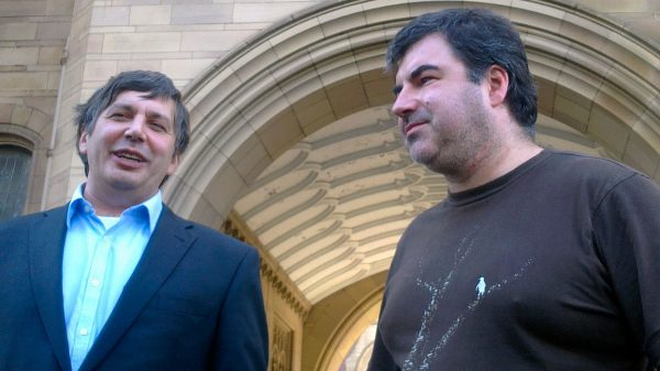 Андрей Гейм и Константин Новоселов. Фото: www.globallookpress.com
